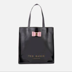 Ted Baker Pink Patent Bow Detail Large Icon Tote
